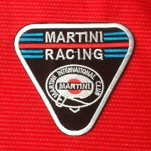 MARTINI RACING TEAM MOTOR SPORTS CAR BADGE IRON SEW ON PATCH