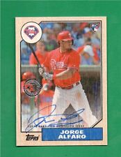 2017 Topps Series 2 Jorge Alfaro Birch Wood Autograph 1/1 On Card Auto