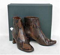 HOBBS Ladies Chocolate Snake Print Imogen Ankle Boots UK6 EU39 RRP229 NEW