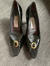 Vintage Bally Patent Leather Pumps Shoes Heels Sz 8.5 Italy