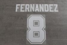 Flocage FERNANDEZ n°8 en feutrine pour maillot équipe de France ou PSG patch