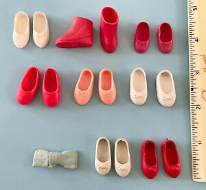 Vintage Doll Shoes Lot: Deluxe Reading Penny Brite & Ideal Tammy Family, Pepper