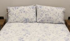 king size duvet cover set white with blue flowers chintz