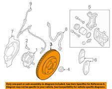 NISSAN OEM 13-15 Altima Front Brake-Disc Rotor 402063TA0A