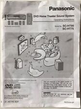 USER MANUAL - Panasonic SC-HT95/HT75 DVD Home Theater System