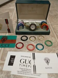 Gucci 1100 L Watch 19 Bezels All Original Pristine With Box And Paperwork!