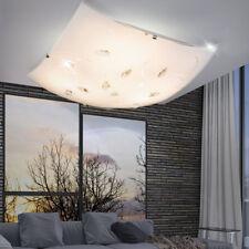 LED Decken Fluter Lampe Chrom Amber Kristalle Gäste Schlaf Zimmer Living-XXL
