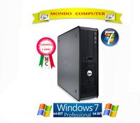 COMPUTER DELL 760 SFF / CPU INTEL CORE 2 DUO E7500 / WINDOWS 7 PRO LICENZA