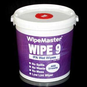 Wipemaster Wipe 9 IPA Isopropyl Heavy Duty Degreasing Wet Wipe