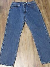 Levi's 505 Blue Denim Jeans Mens 34 X 30 Straight Fit Straight Leg Red Tab