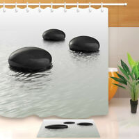 Full Moon Stone Zen Spa River Non-Slip Bathroom Carpet Bath Mat Rug Carpet24x16/""
