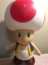 "Super Mario Bros. Nintendo 2008 Toad 7"" Pvc Figure RARE"