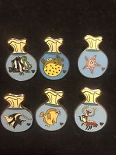Disney Pin Lot Of 6 Finding Nemo Fosh Bags Set