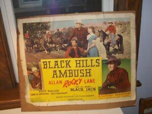 "Black Hills Ambush Western Cowboy Movie Poster Allan ""Rocky' Lane 1952 As Is"