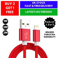 Per iPhone XR X 8 7 6 iPhone 11 5S Intrecciato Dati Caricabatterie USB Cavo LIGHTNING SYNC