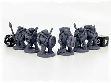 Turdle Adventurers Set of 6 Miniatures 28mm Dungeons and Dragons DnD Tortle
