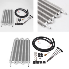 1 Set High Quality Aluminium Corrugated Silver Color Transmission Oil Cooler Kit