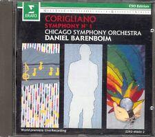 CORIGLIANO - Symphony 1 - Daniel BARENBOIM / Chicago Symphony Orchestra - Erato
