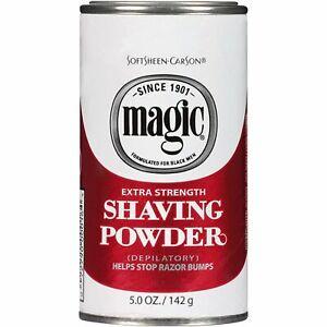 SoftSheen Carson Magic Extra Strength Shaving Powder For RazorLess Shaving 142g
