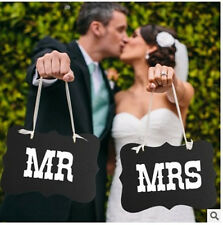 Mr and Mrs Chair Signs Photo Booth Props Photobooth Wedding Decorations Black