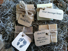 Set of 25 Personalized Natural Soap Wedding Favors