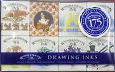 Winsor and Newton Drawing Ink Set 8 x 14ml Bottles