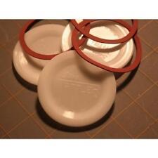 Tattler Reusable E-Z Seal Canning Lids & Rings 100 Wide Bulk Packed White
