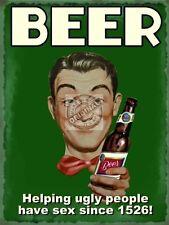 Cerveza Ayudar Ugly People tener sexo,Retro Vintage,Divertido,Imán De Nevera