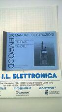 MANUALE IN ITALIANO istruzioni d'uso per KENWOOD TH-D7A/E