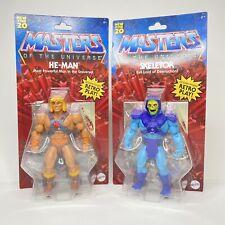Masters of the Universe He-Man Skeletor Action Figures Retro MOTU Origins NEW