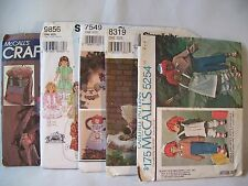 Crafts Pattern Lot of 5 Backpack Doll Dress Angels Unicorns Raggedy Ann Costumes