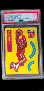 1996-97 Collector's Choice Michael Jordan Sticker (Red Jersey) #30 PSA 5 EX