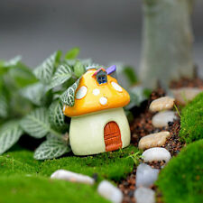 Mushroom Miniature Garden Ornament Diy Craft Pot Fairy Dollhouse Decor Yellow M