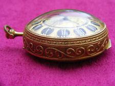 Montre gousset réveil Ernest Borel Versailles bronze doré 8 days 15 jewels clock