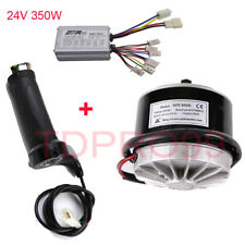 24V 350W Electric Brush Motor + Speed Controller +Throttle Grip Scooter E-Bike
