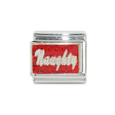 Naughty red sparkly Italian charm - fits 9mm classic Italian charm bracelets