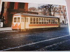 1946 TARS Amsterdam Ave. Trolley New York City NYC Color Photo