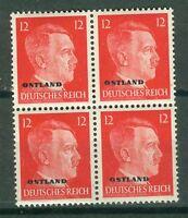 Deutsche Besetzung - Ostland 20 Viererblock  , ** ,