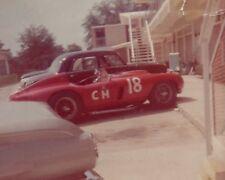 Vintage Color 8X10 1963 USRRC Pensacola Ferrari-Chevy Chuck Nervine