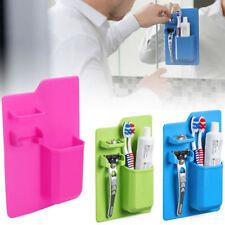 Silicone Mighty Razor Toothbrush Holder Bathroom Shower Organizer Storage Space