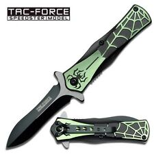 """Tac Force """"Arachnid"""" Assisted Opening Knife - Green tf699gn"""