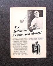 L628- Advertising Pubblicità -1957- WILLIAMS LECTRIC SHAVE