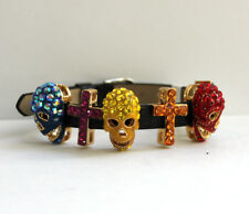 Butler and Wilson Multi SMALL Skull Cross Bracelet NEW