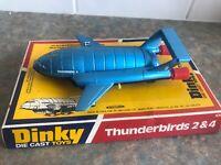 DINKY TOYS 106 THUNDERBIRDS 2 & 4  EXCELLENT RARE 1975 V6 ORIGINAL BOXED