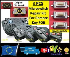 3 x Micro Switch Button Remote Key Fob FIAT Punto Bravo Stilo Ducato Doblo - V3