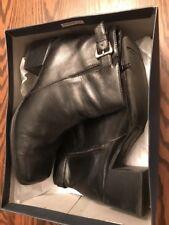 White Mountain Womens Shoes Top Strap Side Zipper Black Heels 9M W Box