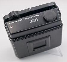 Mamiya RZ67 Professional Medium Format SLR Camera 220 Film Back