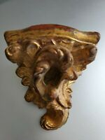 Vintage Small Wall Sconce Gold Antique Wood Gilt Beautiful.
