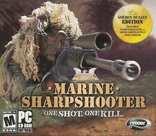 MARINE SHARPSHOOTER 1 & 2 Jungle Warfare Golden Bullet Edition PC Game Shooter N