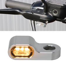 Harley Mini DEL Clignotant + Clignotant Support 15,5 en aluminium sur le côté Flywheel-Design